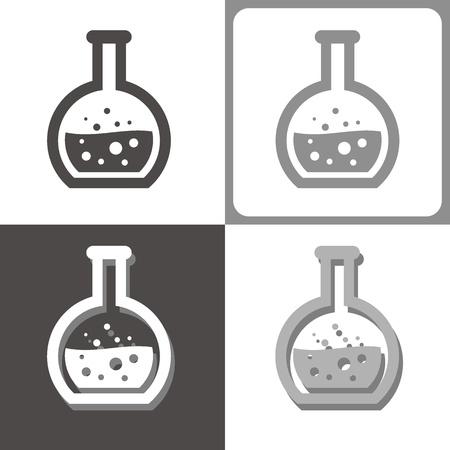 elixir: química tubo vector icono