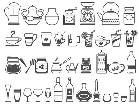 keuken gereedschappen en gebruiksvoorwerpen. Vector illustratie
