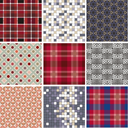 pave: seamless abstract pattern set
