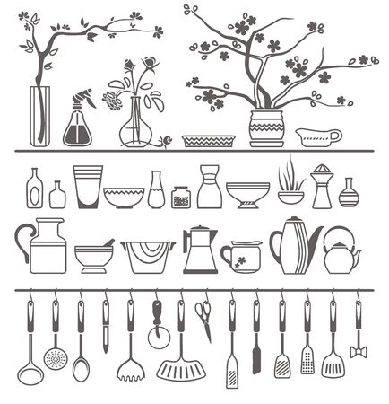 pulverizer: kitchen tools and utensils. Vector illustration Illustration