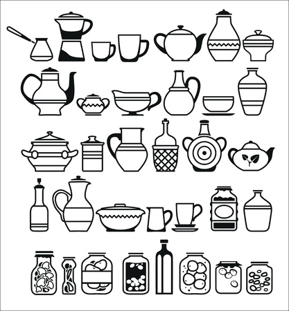 baking dish: kitchen tools and utensils. Vector illustration Illustration