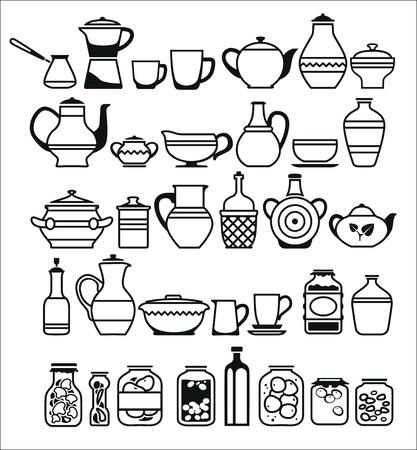 pantry: kitchen tools and utensils. Vector illustration Illustration