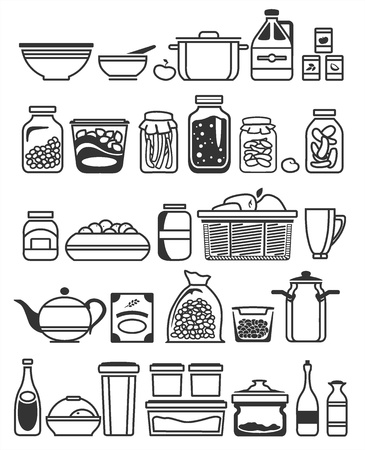 cereal: kitchen tools and utensils. Vector illustration Illustration