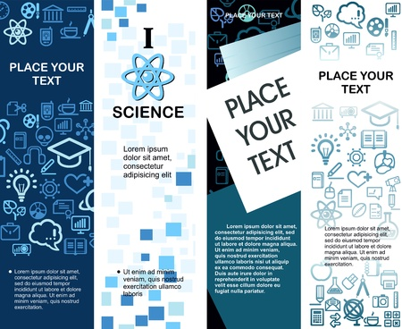 education banners with icons