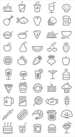 food icons. Vector illustration Vector