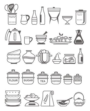 sugar bowl: kitchen tools and utensils  Vector illustration