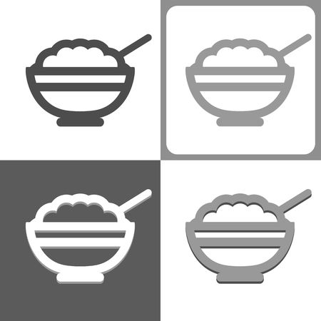 rice plate: Bowl vector icon