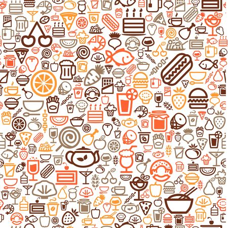 seamless food background Illustration