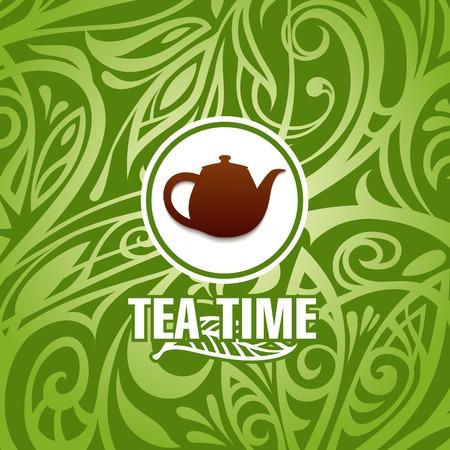 お茶の時間ベクトル テンプレート