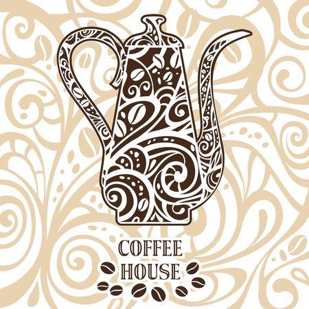 fond caf�: caf� de fond, illustration vectorielle Illustration