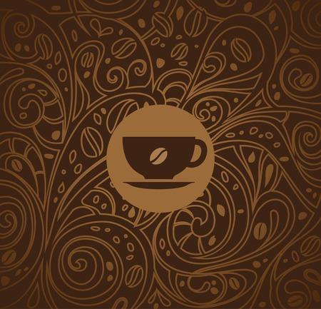 caffè sfondo, illustrazione vettoriale