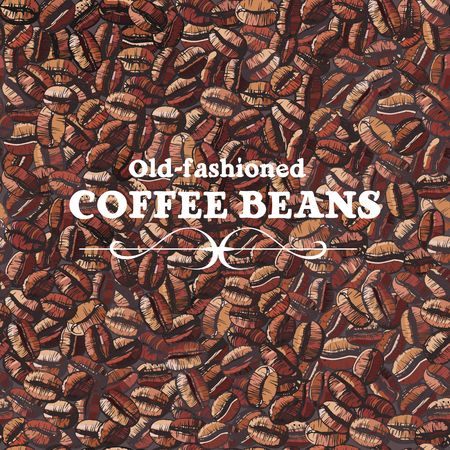 large bean: roasted coffee beans, seamless background Illustration