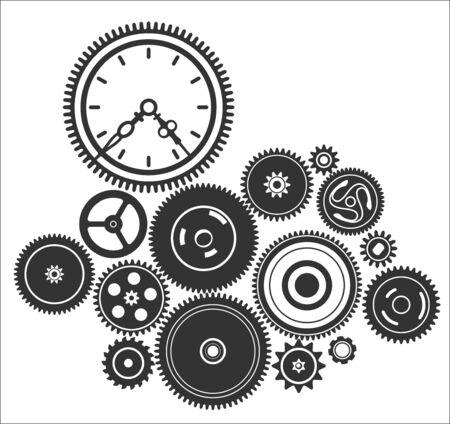 dag: gearwheel mechanism background