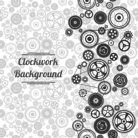 dag: seamless gearwheel mechanism background. Vector illustration