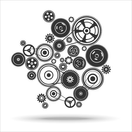 dag: gearwheel mechanism background. Vector illustration