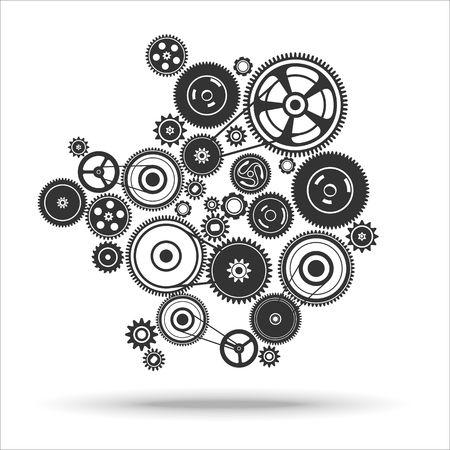gearwheel mechanisme achtergrond. Vector illustratie Stock Illustratie