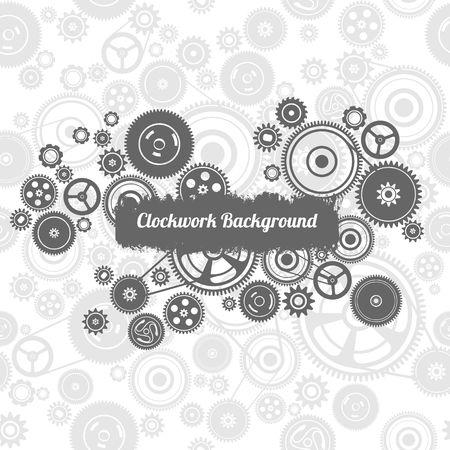 dag: seamless black and white mechanism  background, vector Illustration