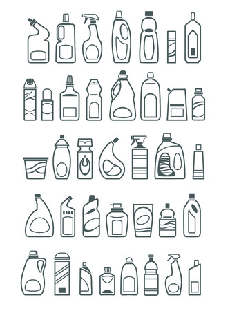 spray bottle: household chemicals icons