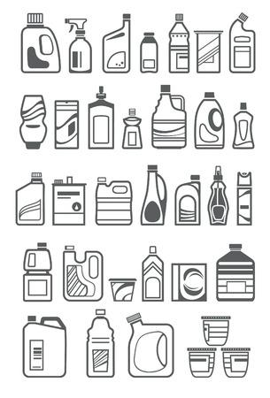 Los químicos del hogar iconos