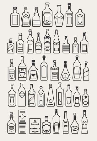 alcool: alcool, les boissons, les icônes de boissons