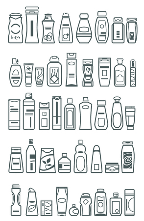 cosmetic products: cosmetic products , vector illustration Illustration