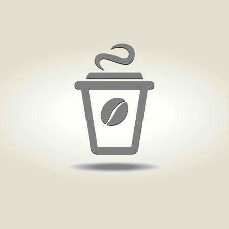 コーヒーカップ: コーヒー カップ アイコン  イラスト・ベクター素材