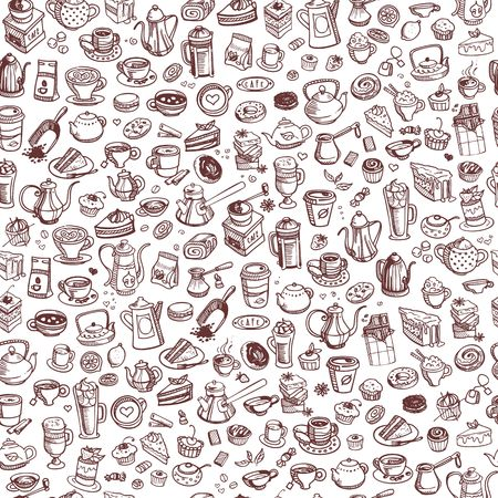 spice cake: hand drawn coffee Illustration