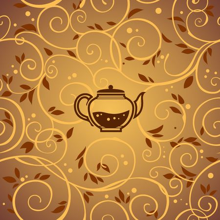 tea kettle: vector template with tea kettle