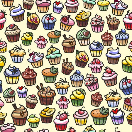 coloful: coloful cupcakes seamless background