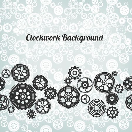 timekeeper: mechanism background with cogwheels and gears vector illustration Illustration