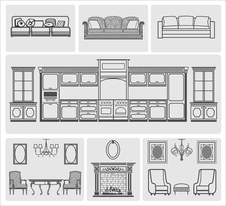 fireplace lighter: Furniture icons