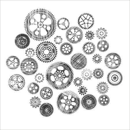 timekeeper: scribbled cogwheels and gears