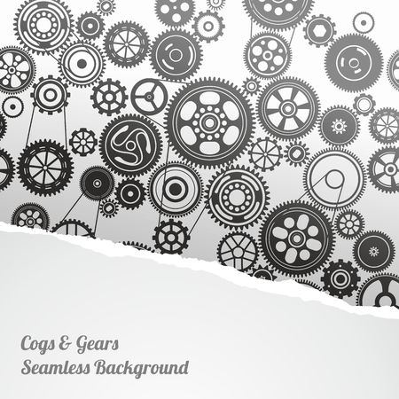 clockwork: gearwheel mechanism background