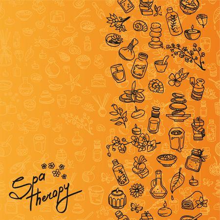 doodle spa elements, background