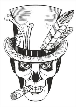 baron: day of the dead baron samedi vector illustration