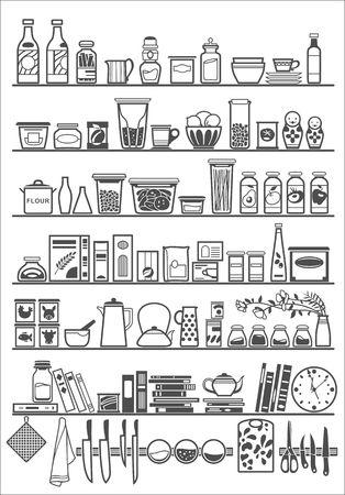 Cuisine ou cellier étagères Banque d'images - 41549816