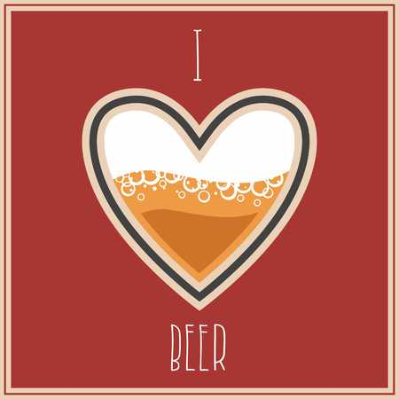 heart in love: I Love Beer image, heart symbol with beer inside