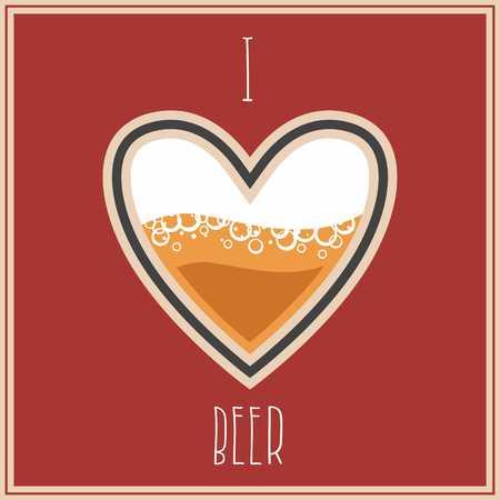 I Love Beer image, heart symbol with beer inside