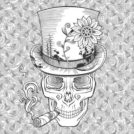 halloween tee shirt: baron samedi image Illustration