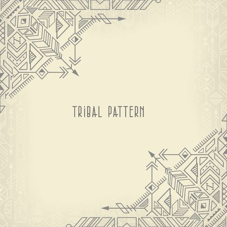 vintage tribal ethnic background, native american motifs