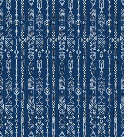 Motif ethnique transparente avec motifs amérindiens, vecteur Banque d'images - 45584726