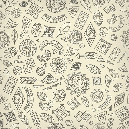 seamless abstract or tribal ethnic pattern