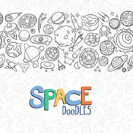 astronomie: Hand gezeichneten Kritzeleien von Planeten ans Raumobjekte