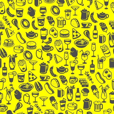icons of different food and drinks