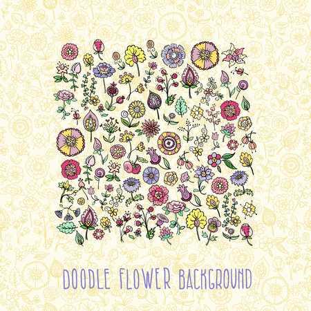 hand drawn floral, vector illustration Illustration