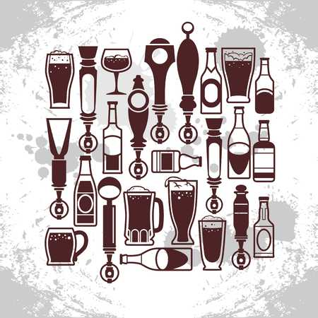 icons of drinks and beer taps