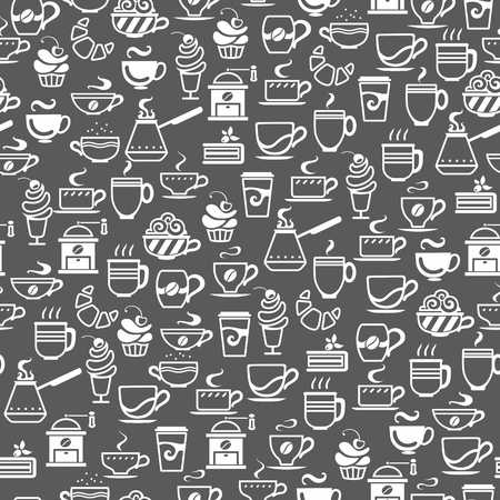 Seamless background made of cup icons vector