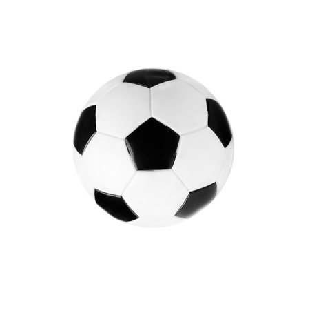 without people: black and white soccer ball isolated on the white background without shadows