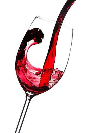 round glasses: Bienvenida de vino tinto