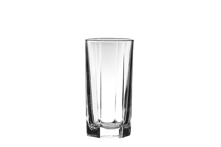 glass isolated on a white background photo